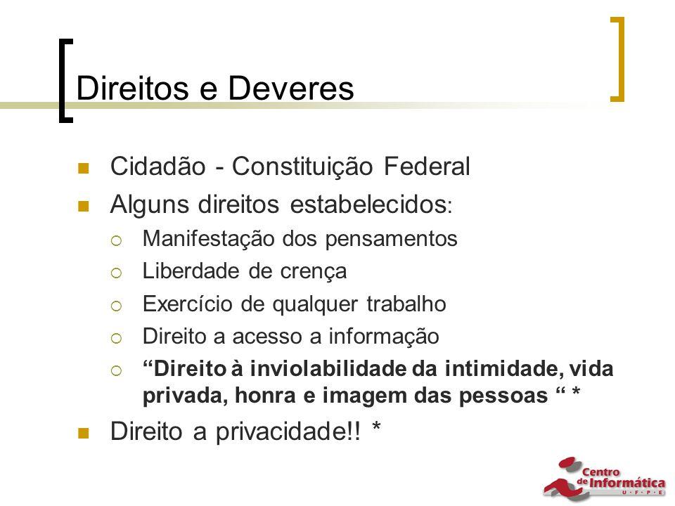 Direitos e Deveres Cidadão - Constituição Federal