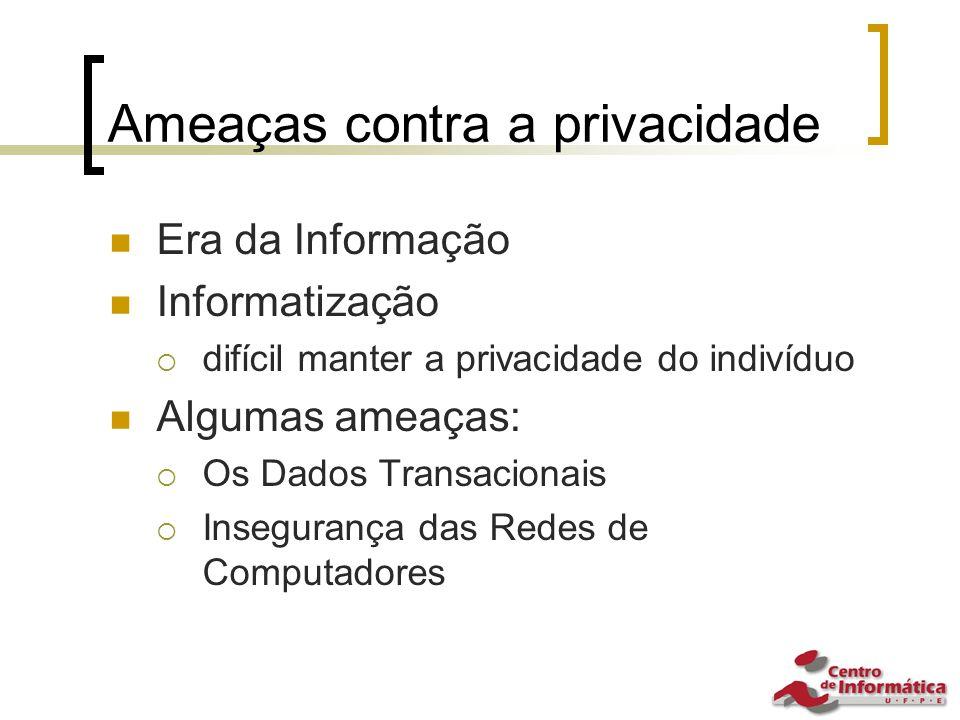 Ameaças contra a privacidade
