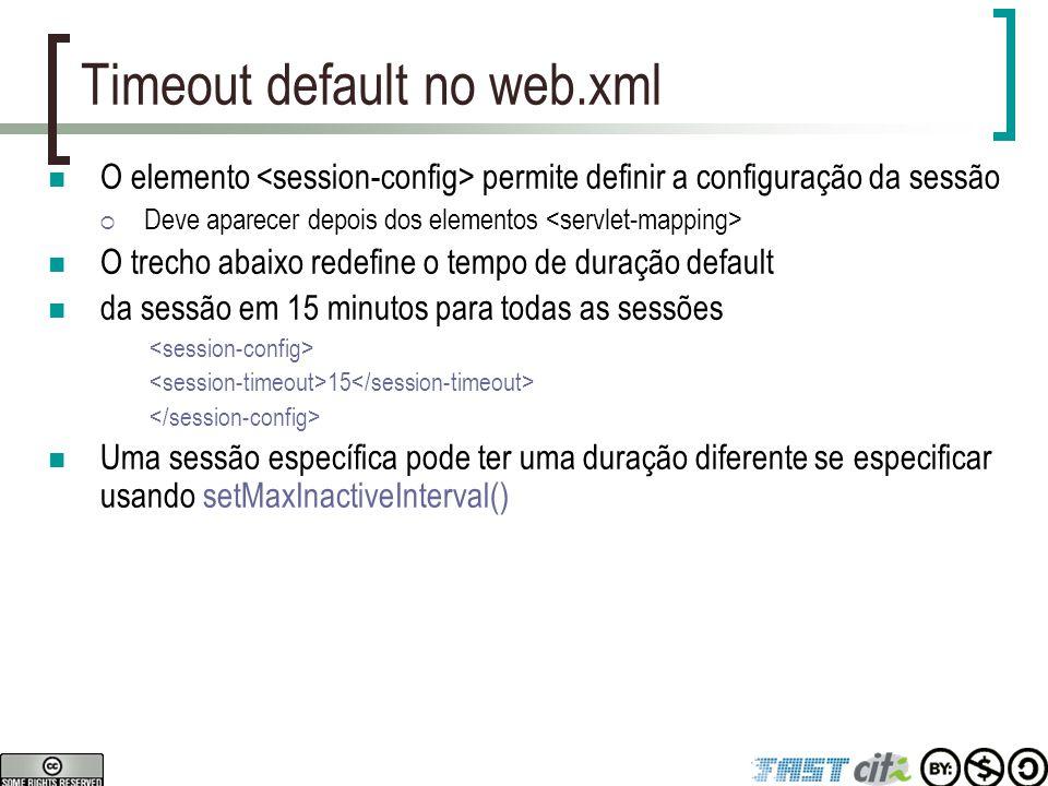 Timeout default no web.xml
