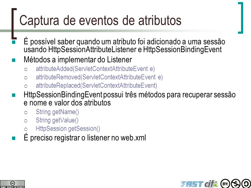 Captura de eventos de atributos