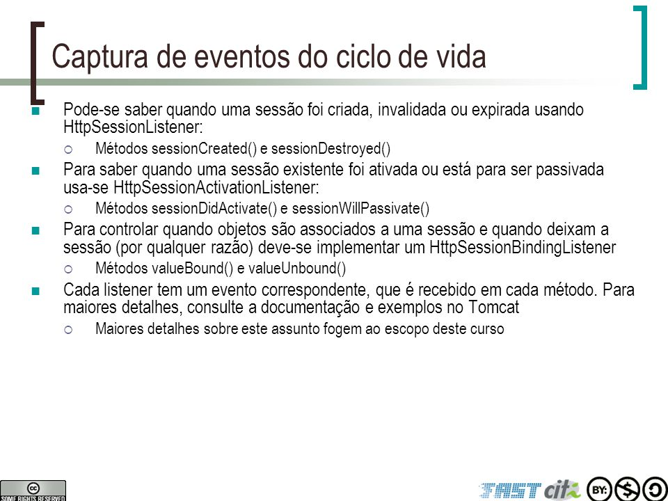 Captura de eventos do ciclo de vida