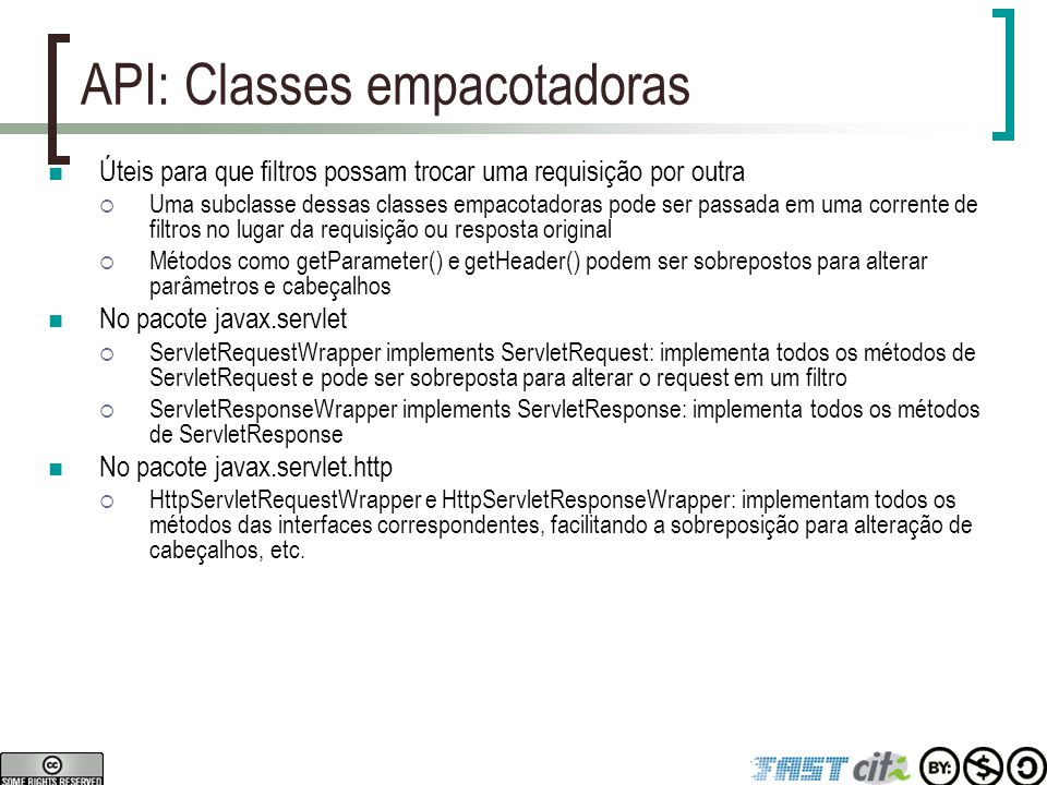 API: Classes empacotadoras