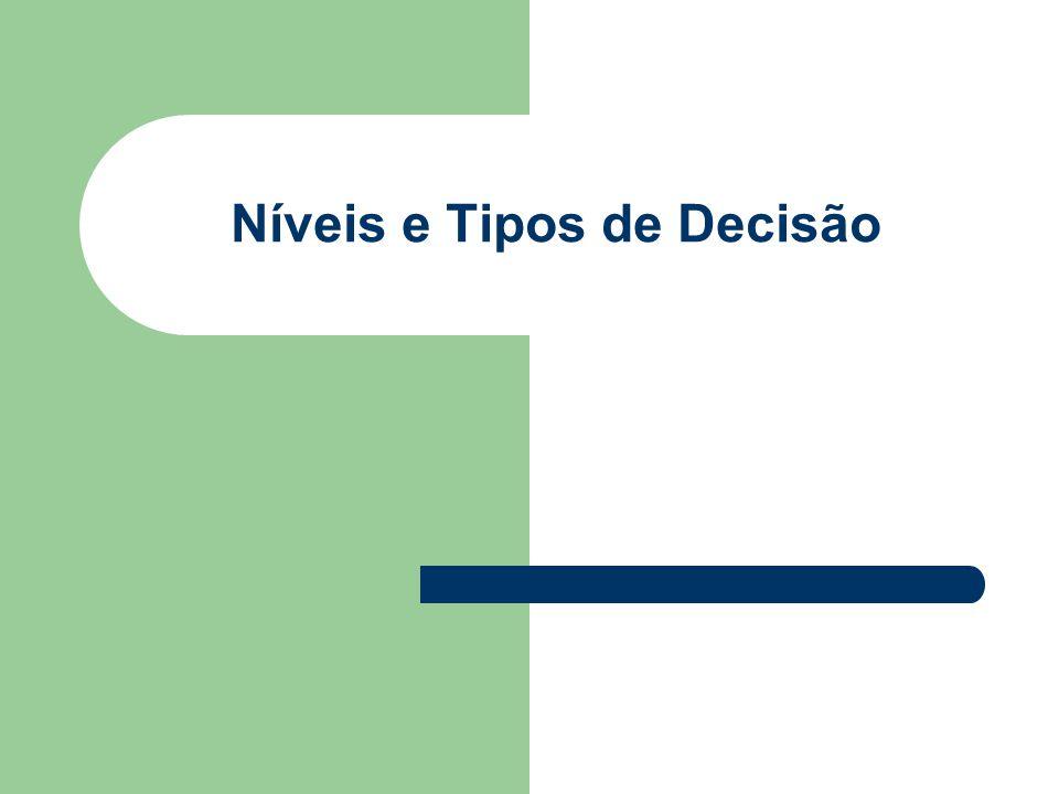 Níveis e Tipos de Decisão