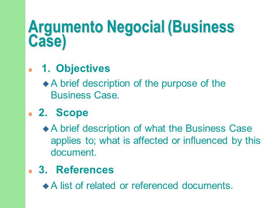 Argumento Negocial (Business Case)