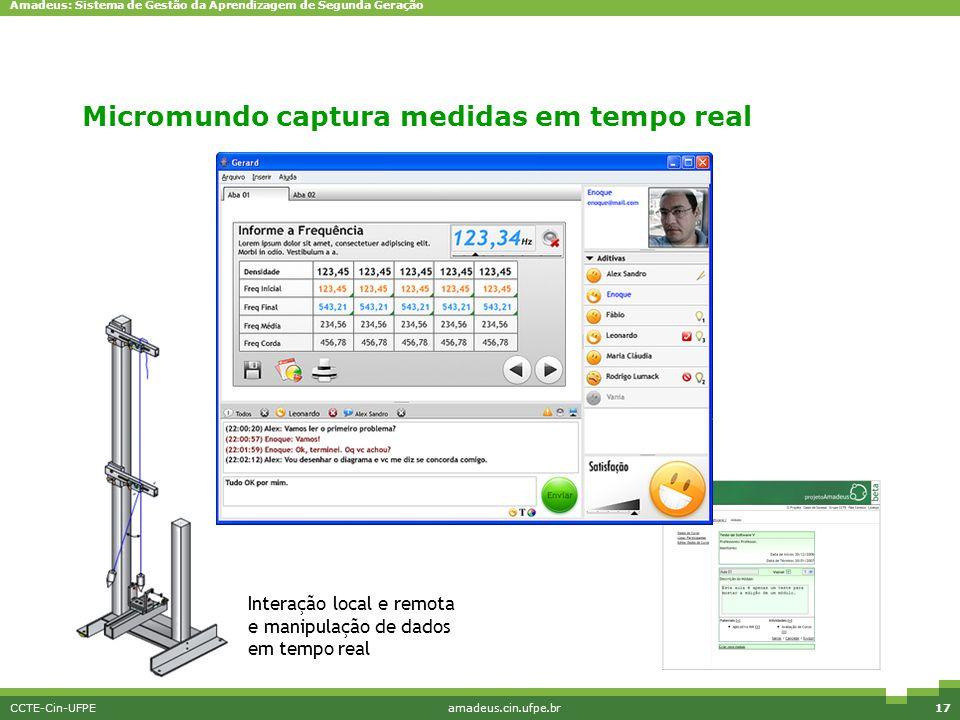 Micromundo captura medidas em tempo real