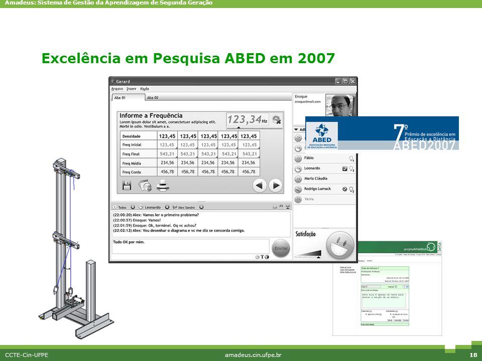 Excelência em Pesquisa ABED em 2007