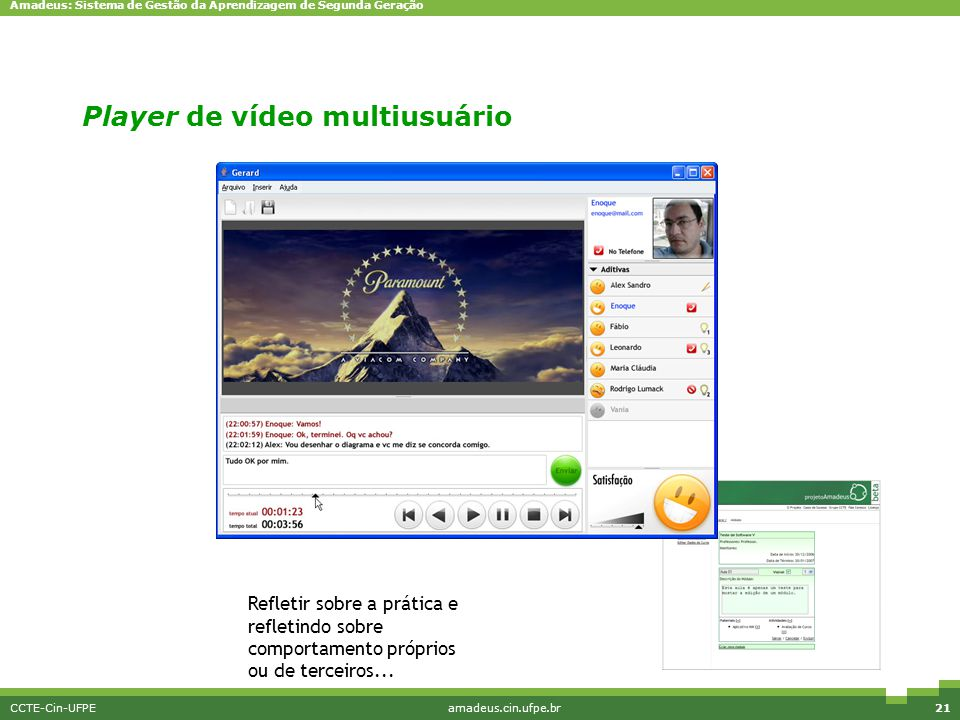 Player de vídeo multiusuário