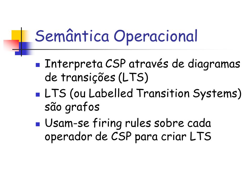 Semântica Operacional