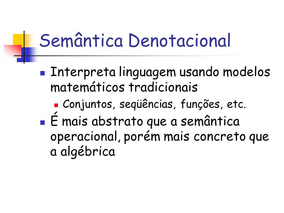 Semântica Denotacional