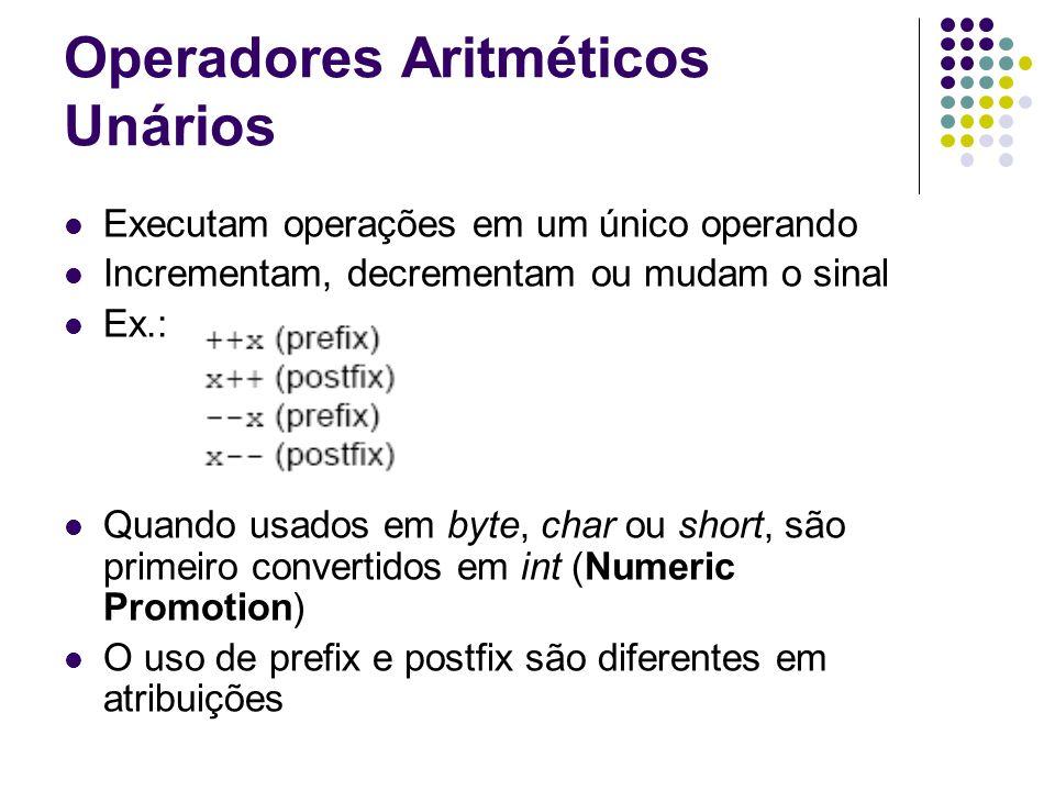 Operadores Aritméticos Unários