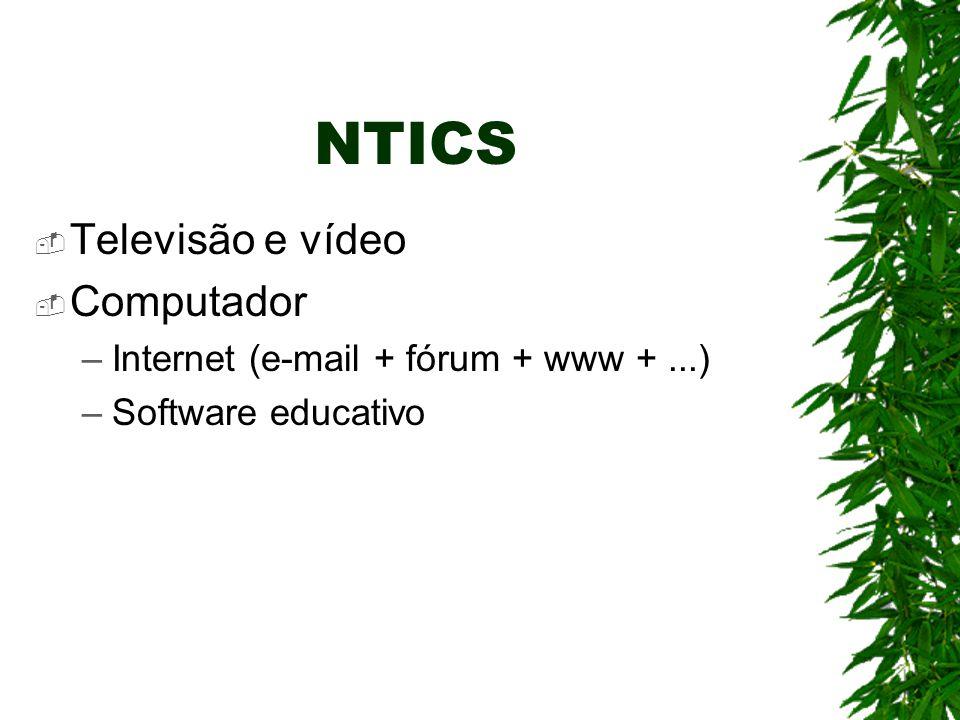 NTICS Televisão e vídeo Computador