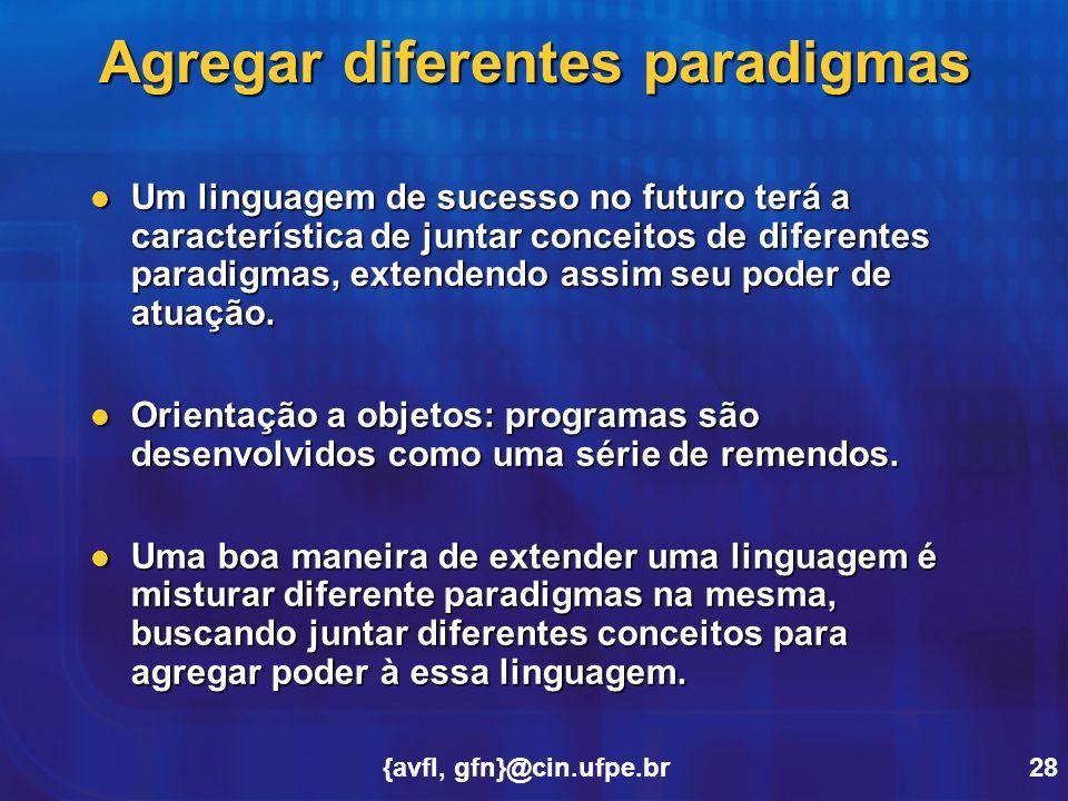 Agregar diferentes paradigmas