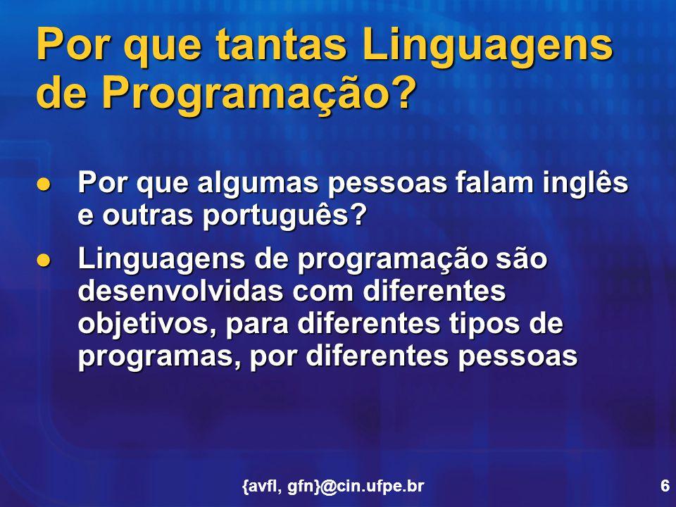 Por que tantas Linguagens de Programação