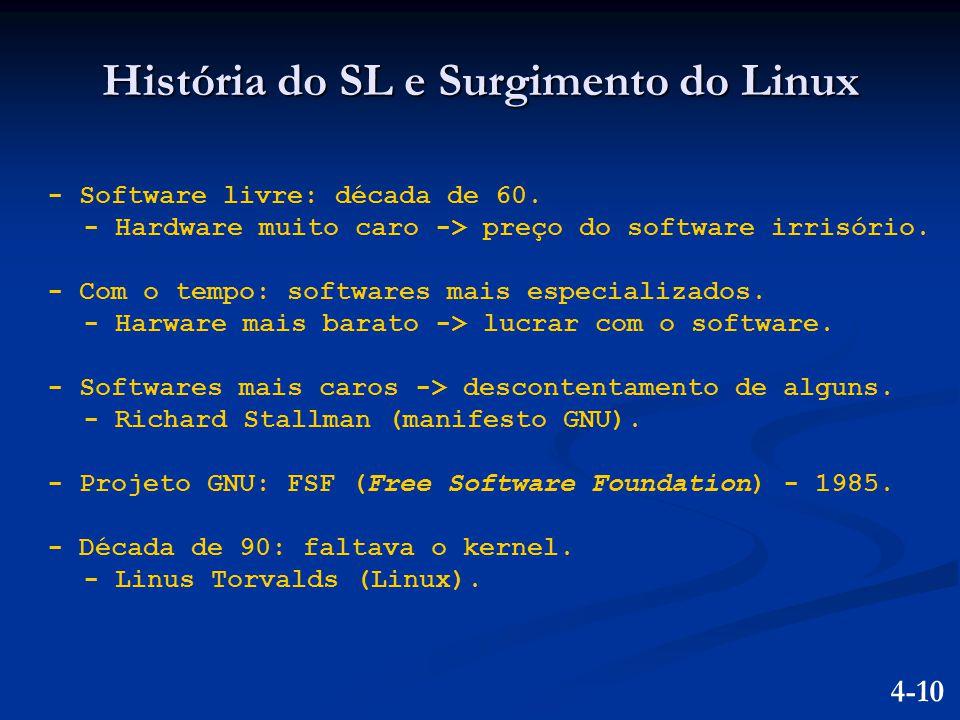 História do SL e Surgimento do Linux