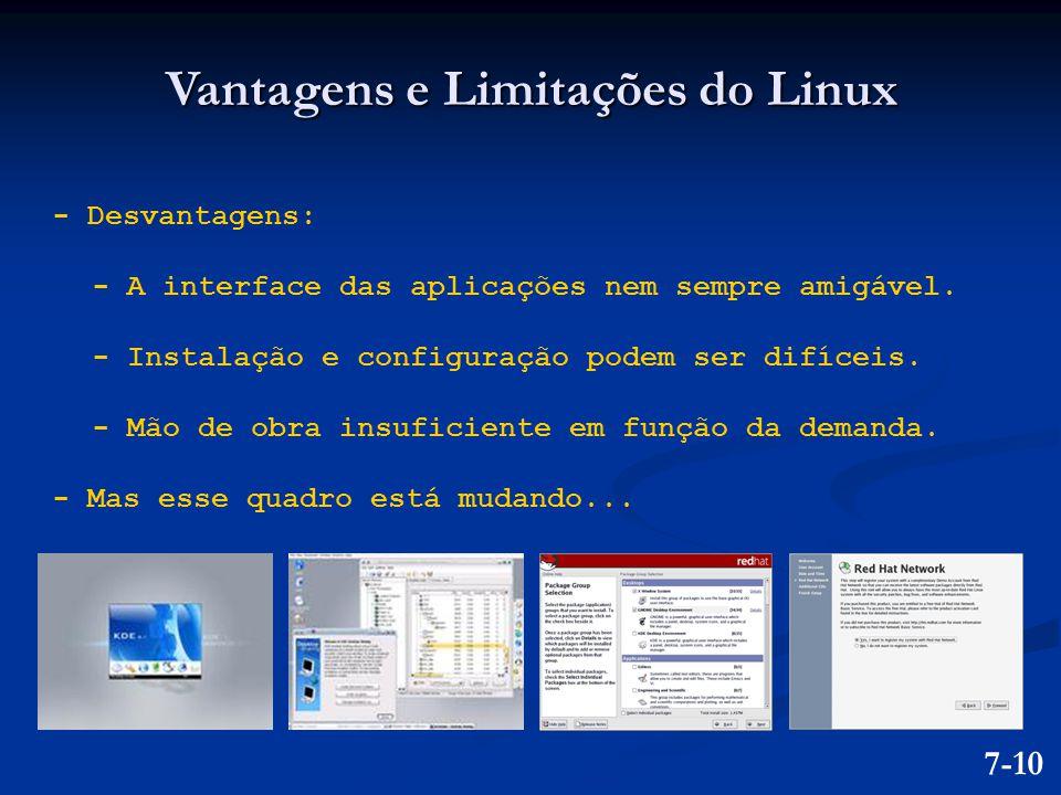 Vantagens e Limitações do Linux