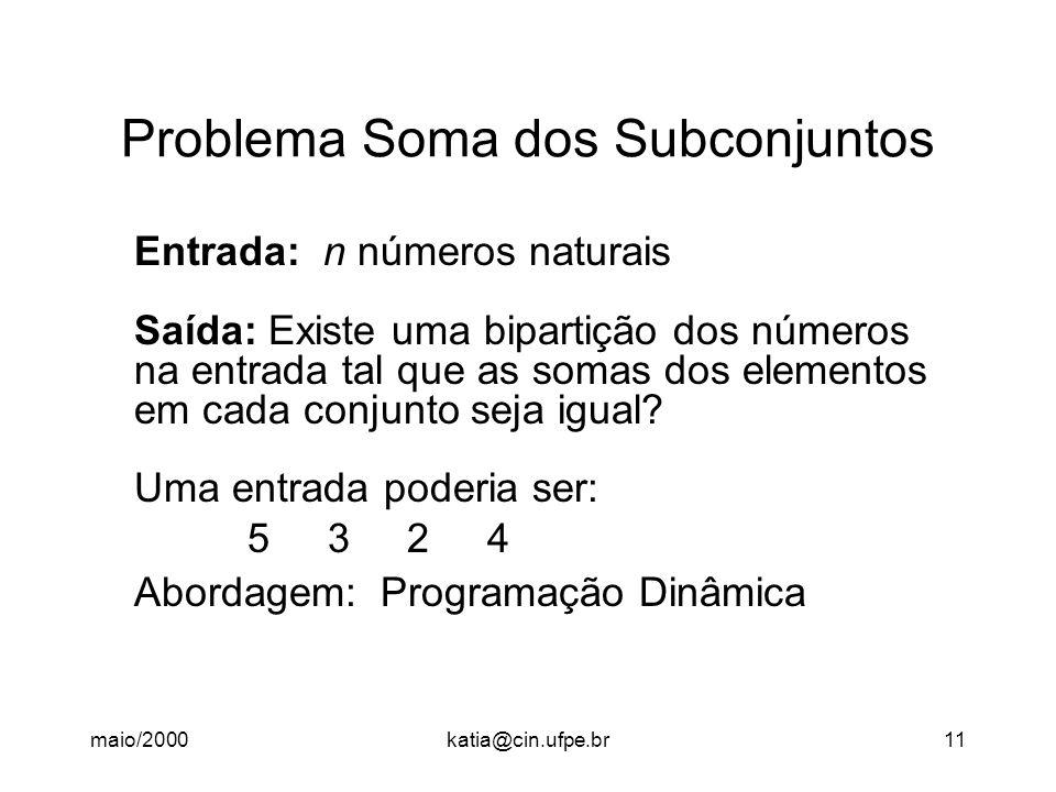 Problema Soma dos Subconjuntos