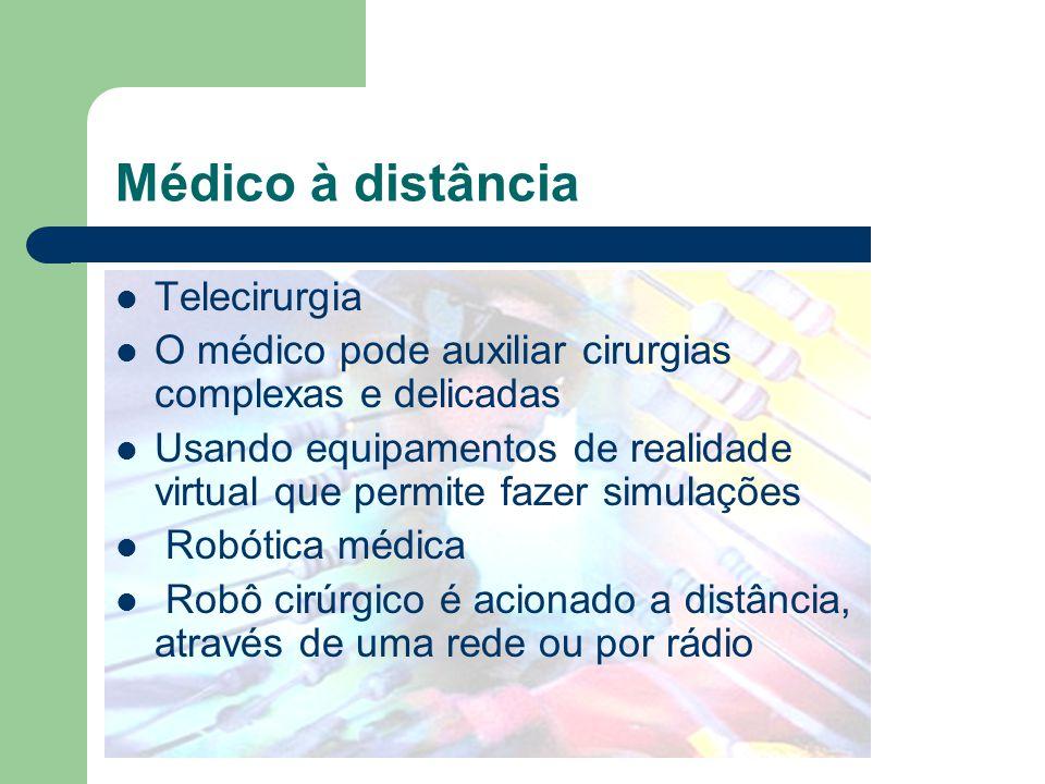 Médico à distância Telecirurgia