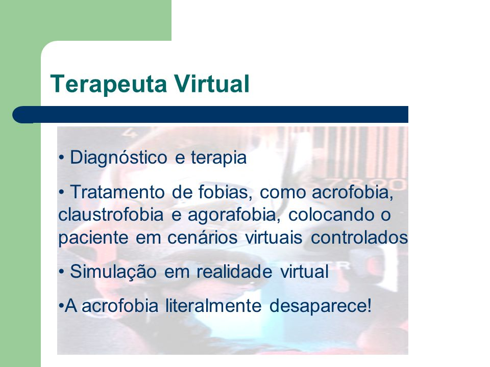 Terapeuta Virtual Diagnóstico e terapia