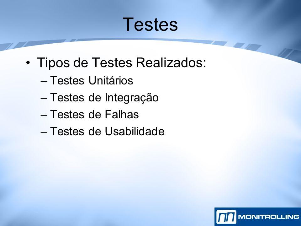 Testes Tipos de Testes Realizados: Testes Unitários