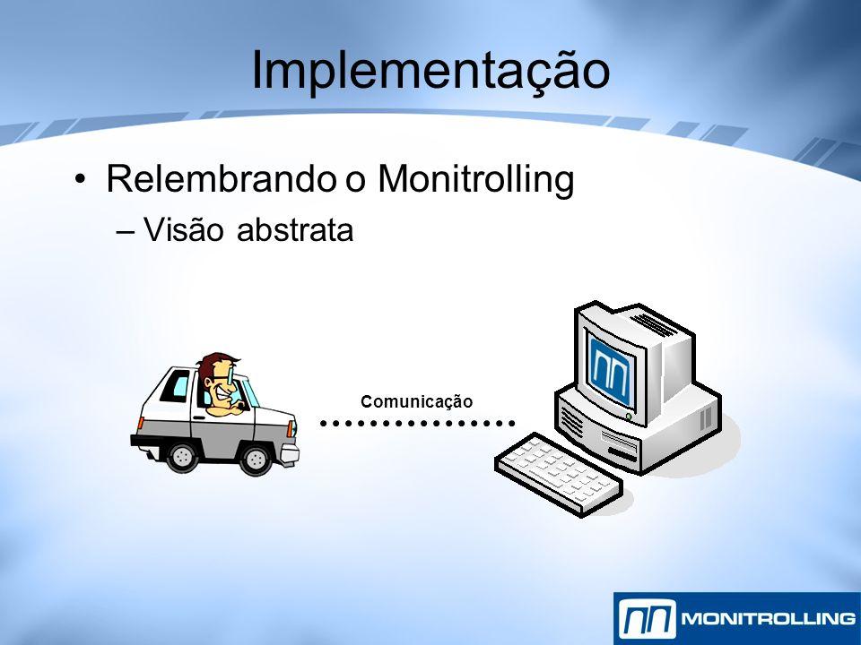 Implementação Relembrando o Monitrolling Visão abstrata Comunicação