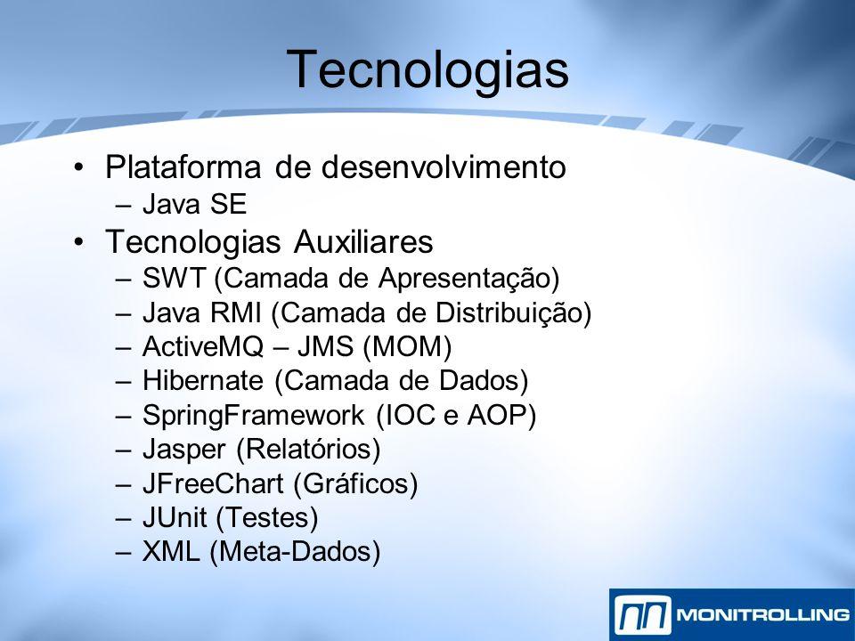 Tecnologias Plataforma de desenvolvimento Tecnologias Auxiliares