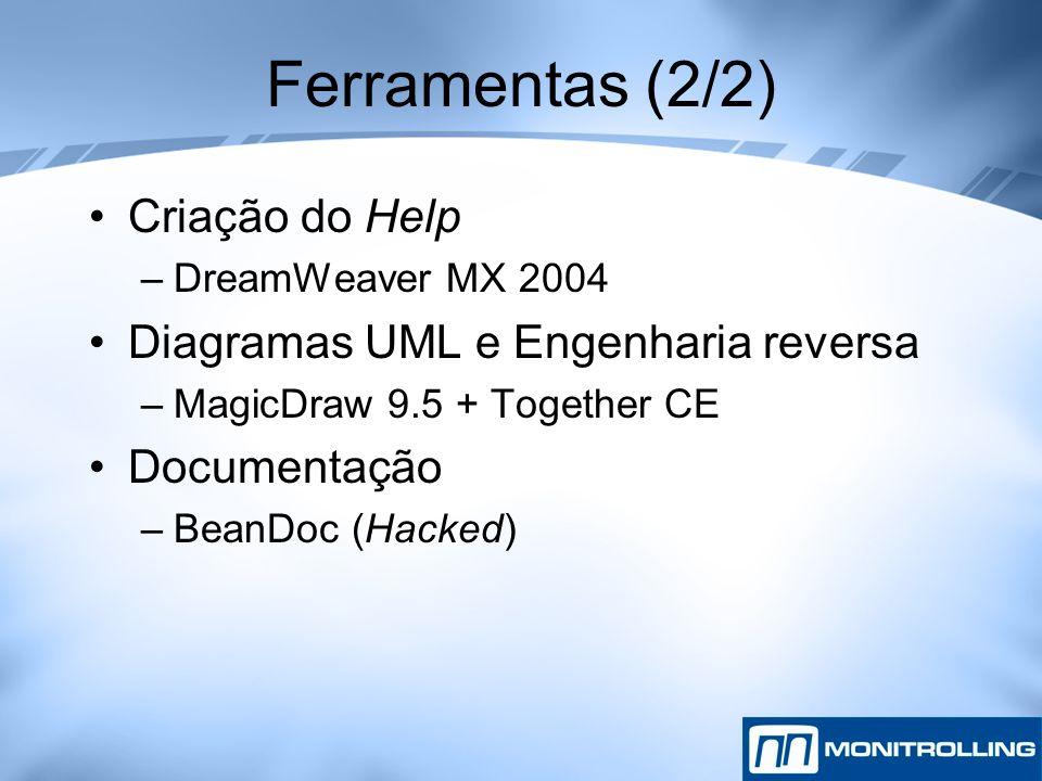 Ferramentas (2/2) Criação do Help Diagramas UML e Engenharia reversa