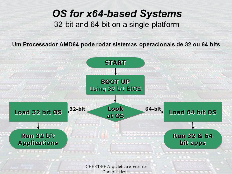 Um Processador AMD64 pode rodar sistemas operacionais de 32 ou 64 bits