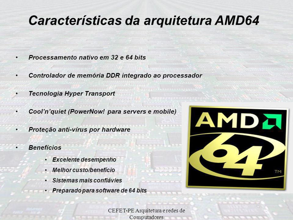 Características da arquitetura AMD64