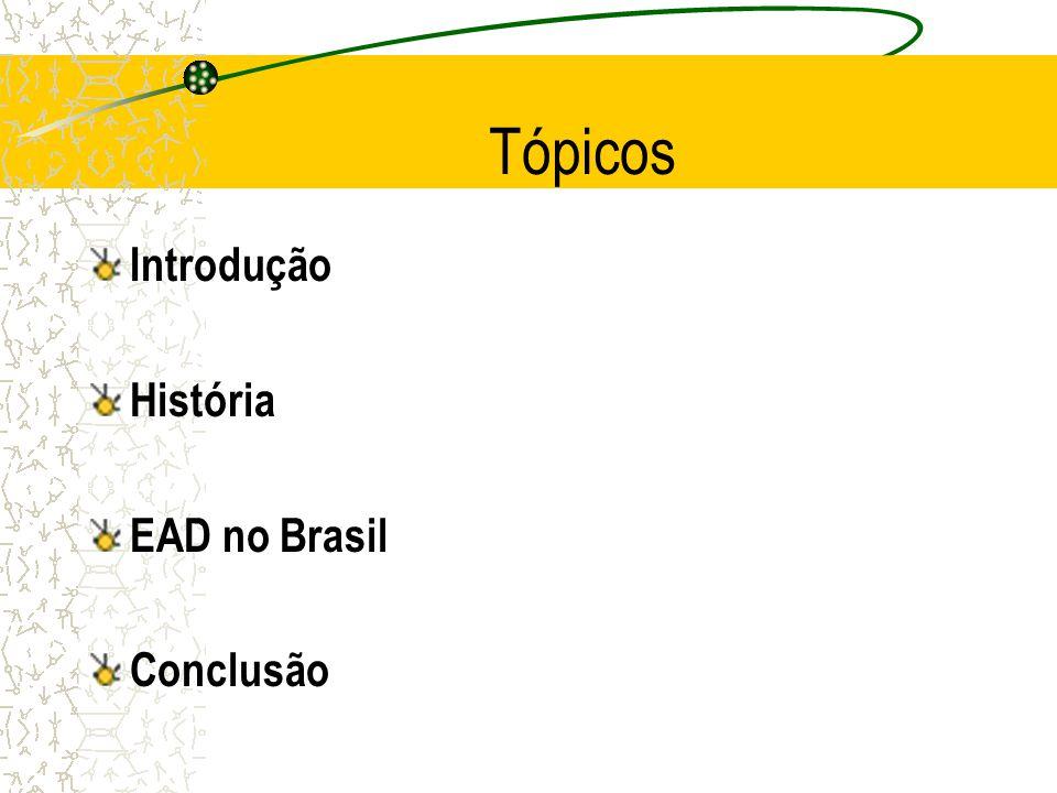 Tópicos Introdução História EAD no Brasil Conclusão