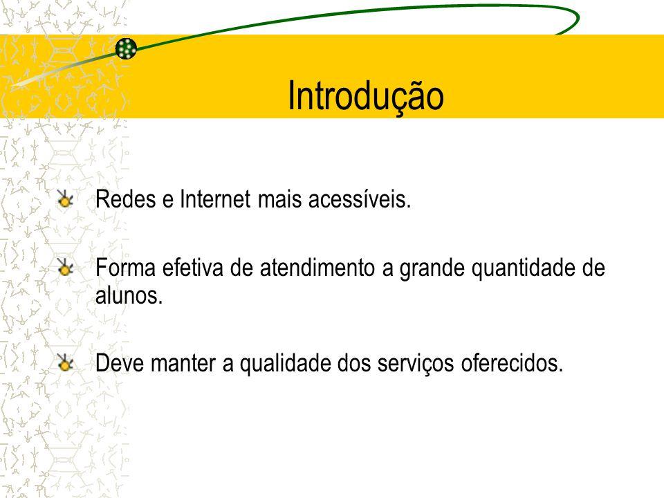 Introdução Redes e Internet mais acessíveis.