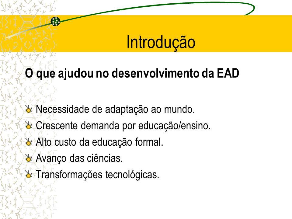 Introdução O que ajudou no desenvolvimento da EAD