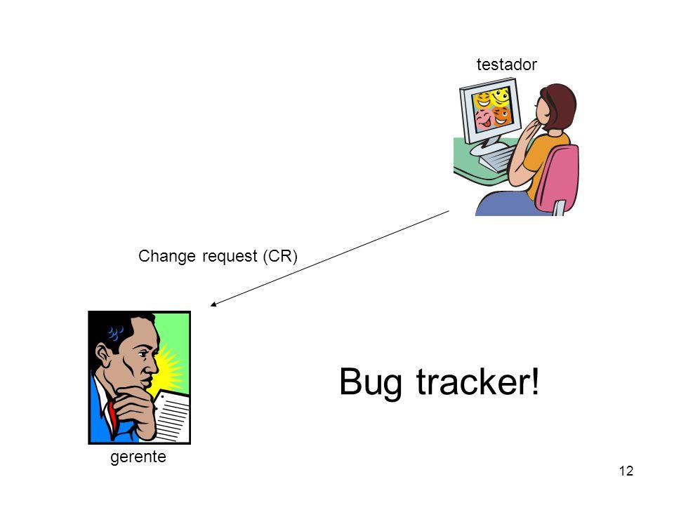 testador Change request (CR) Bug tracker! gerente