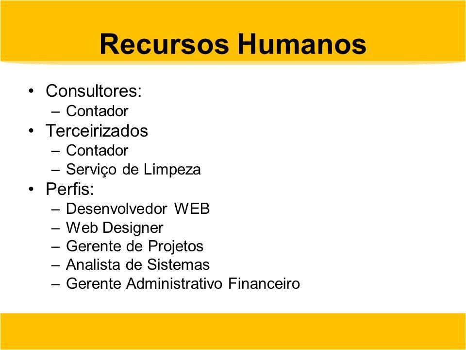 Recursos Humanos Consultores: Terceirizados Perfis: Contador