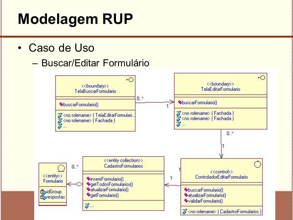 Modelagem RUP Caso de Uso Buscar/Editar Formulário