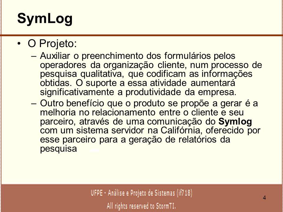 SymLog O Projeto: