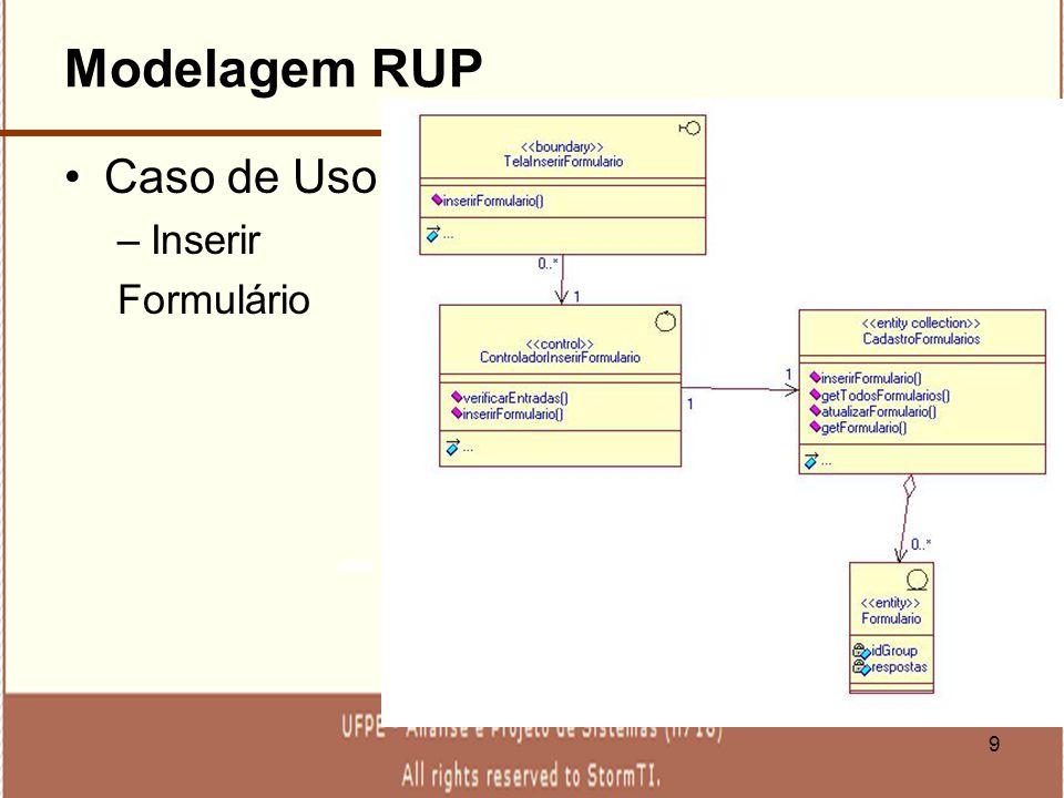 Modelagem RUP Caso de Uso Inserir Formulário