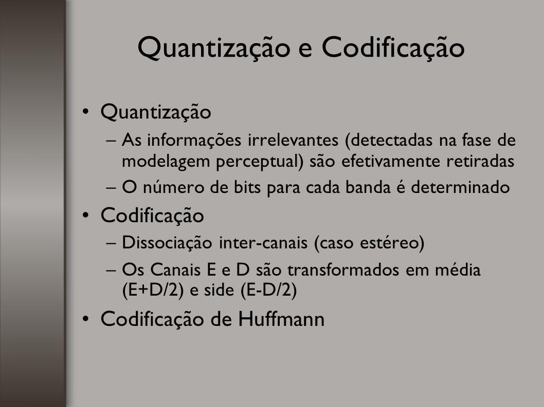 Quantização e Codificação
