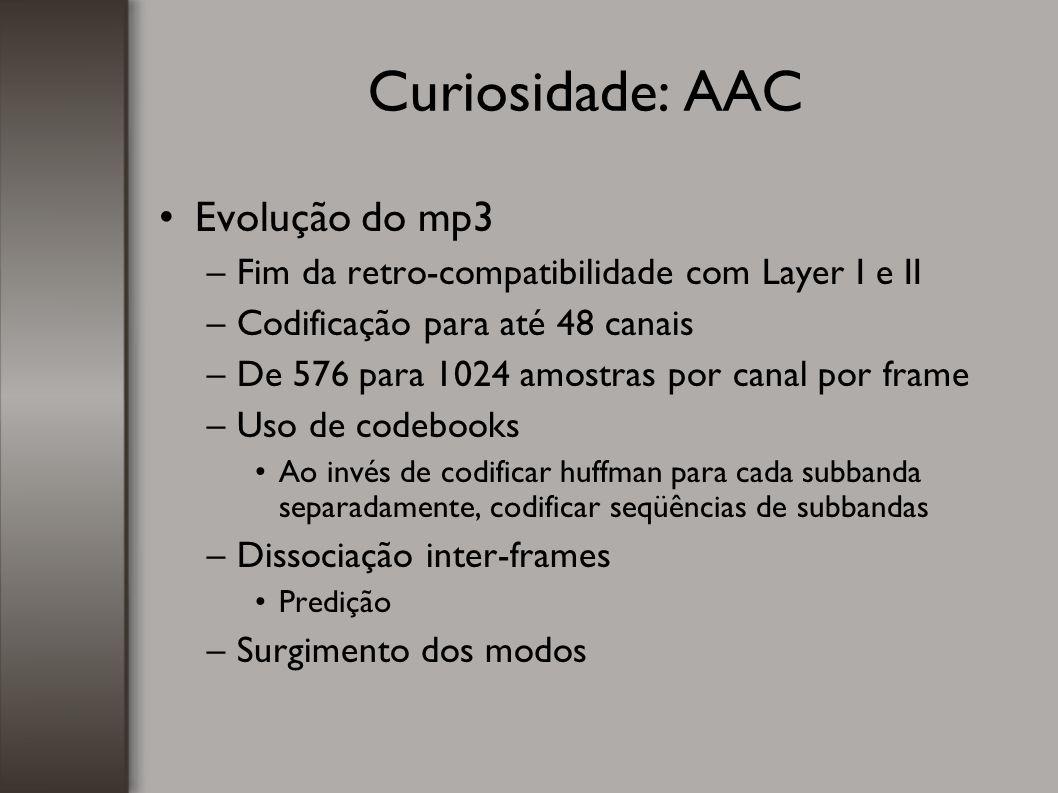 Curiosidade: AAC Evolução do mp3