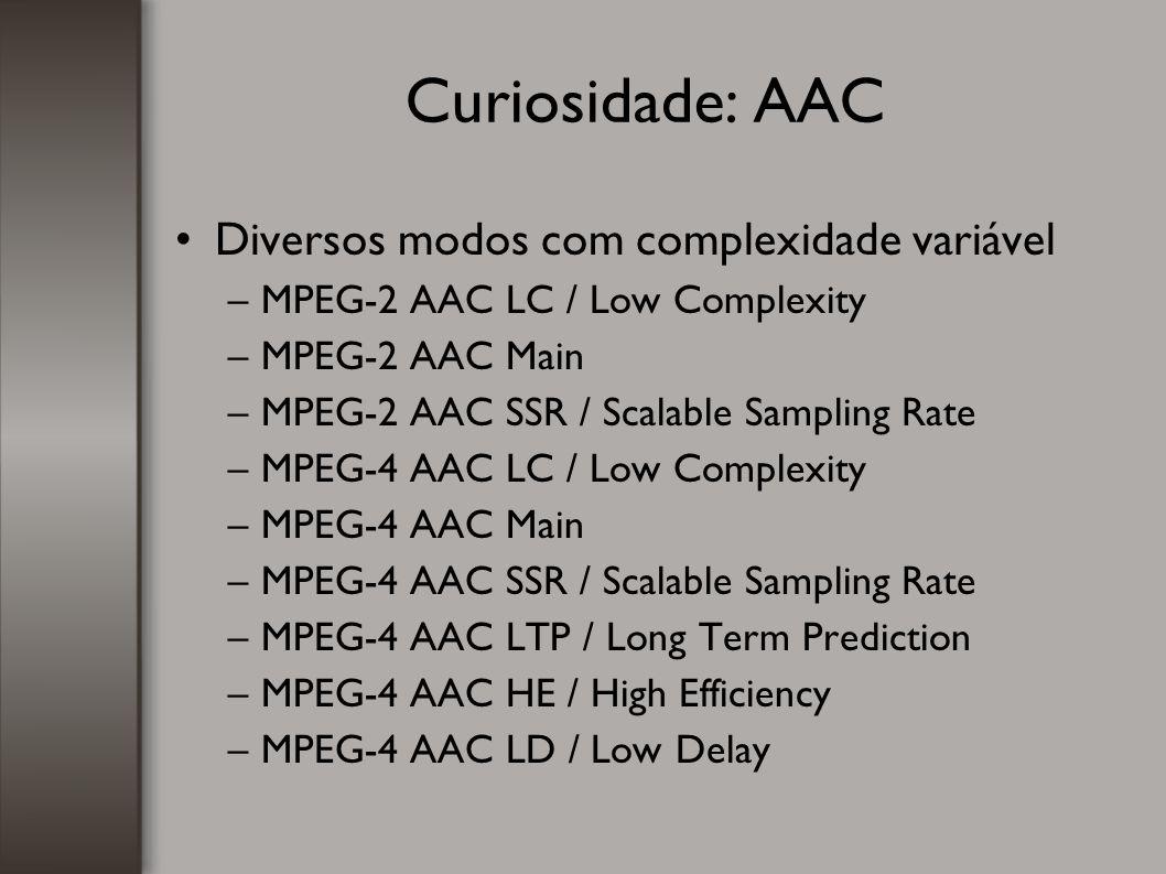 Curiosidade: AAC Diversos modos com complexidade variável