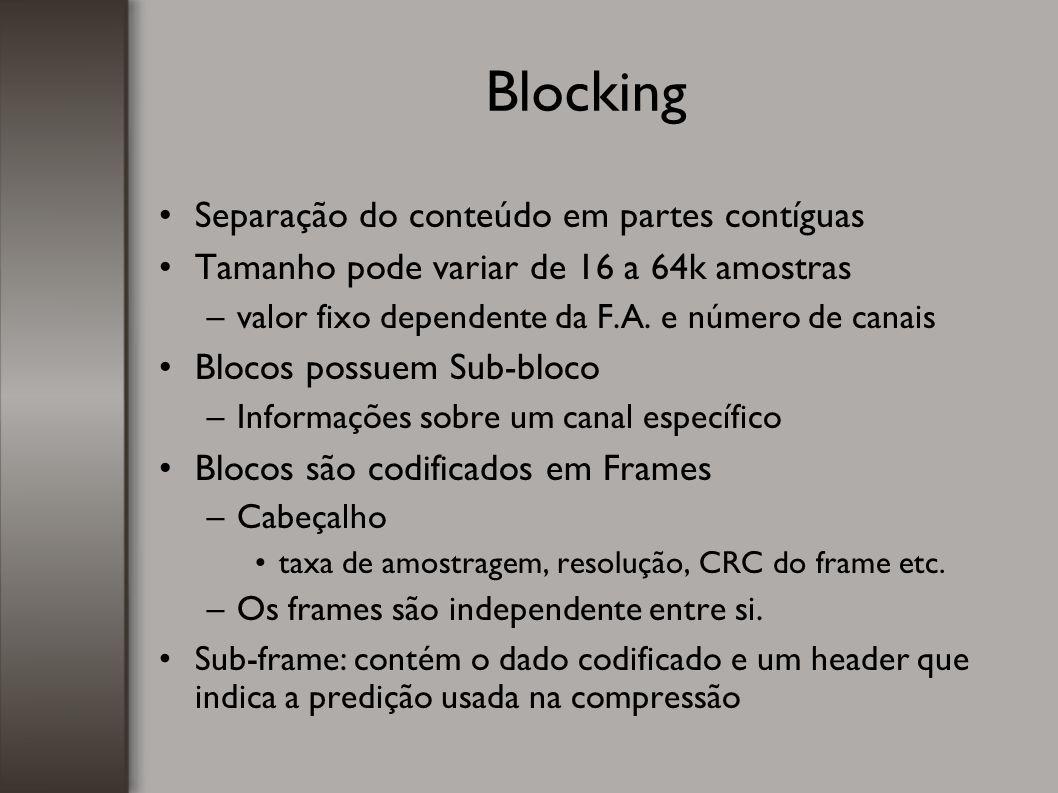 Blocking Separação do conteúdo em partes contíguas