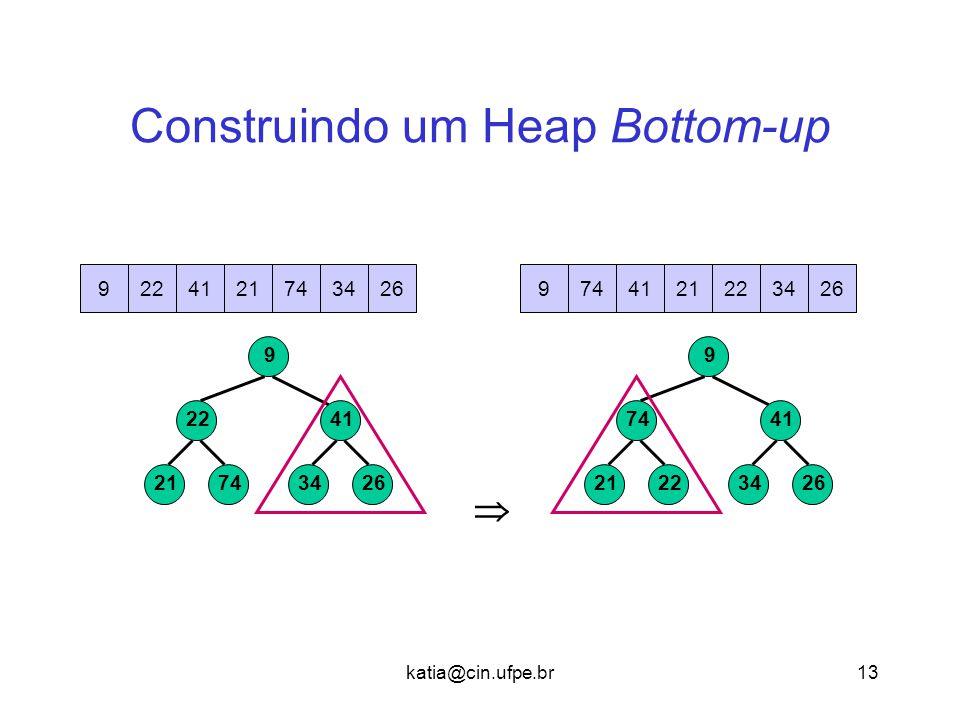 Construindo um Heap Bottom-up