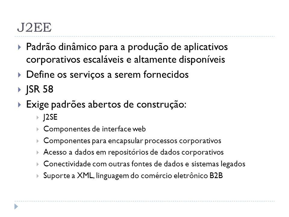 J2EE Padrão dinâmico para a produção de aplicativos corporativos escaláveis e altamente disponíveis.