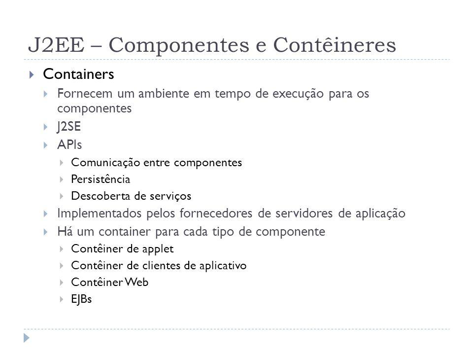 J2EE – Componentes e Contêineres