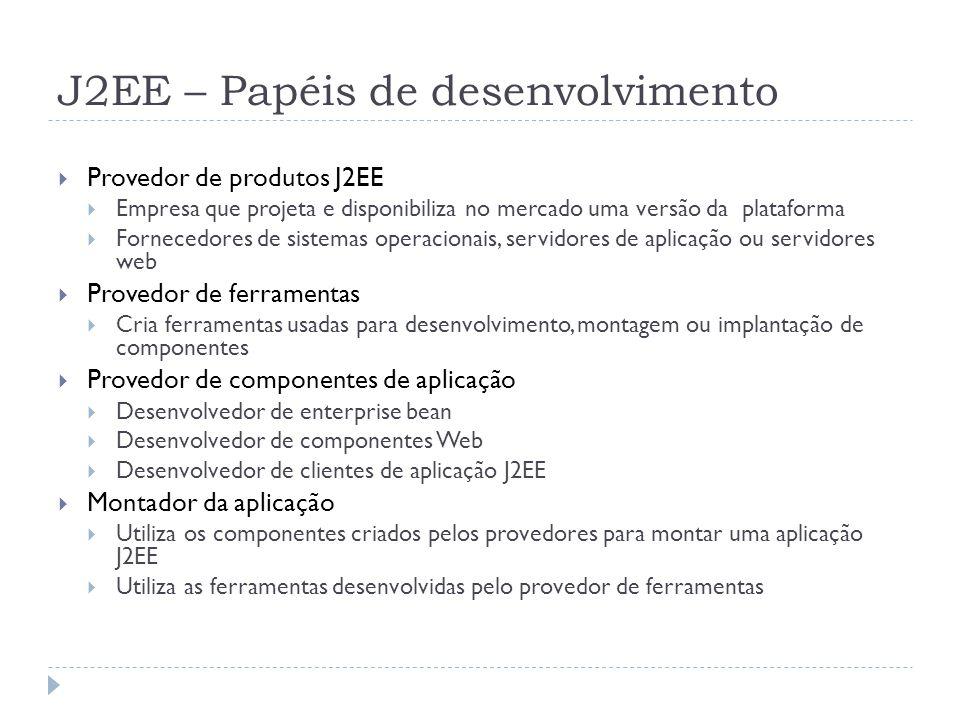 J2EE – Papéis de desenvolvimento