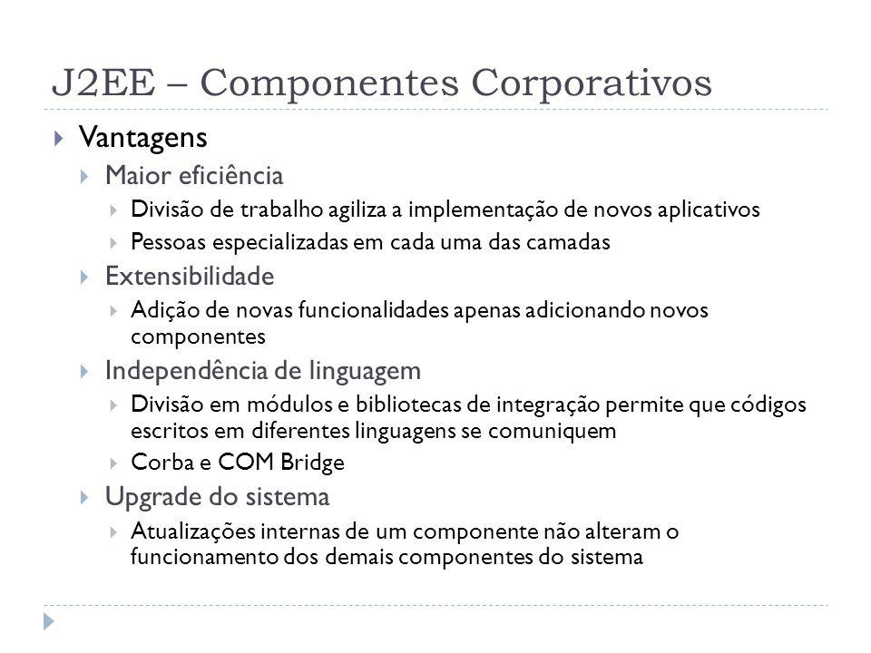 J2EE – Componentes Corporativos