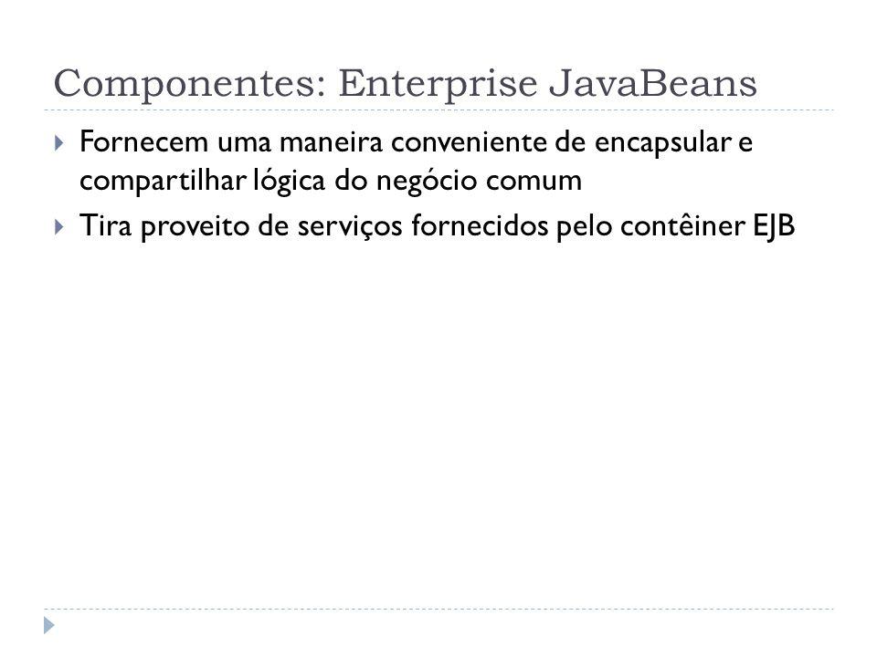 Componentes: Enterprise JavaBeans