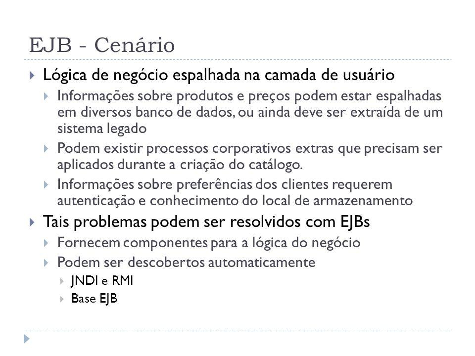 EJB - Cenário Lógica de negócio espalhada na camada de usuário