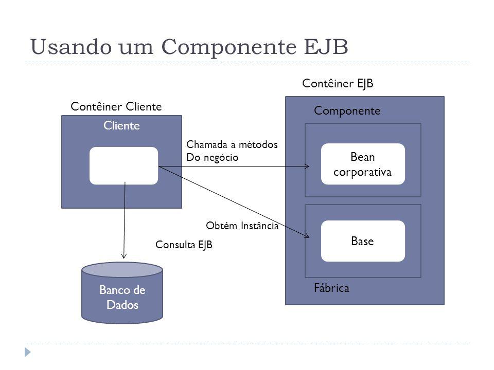 Usando um Componente EJB