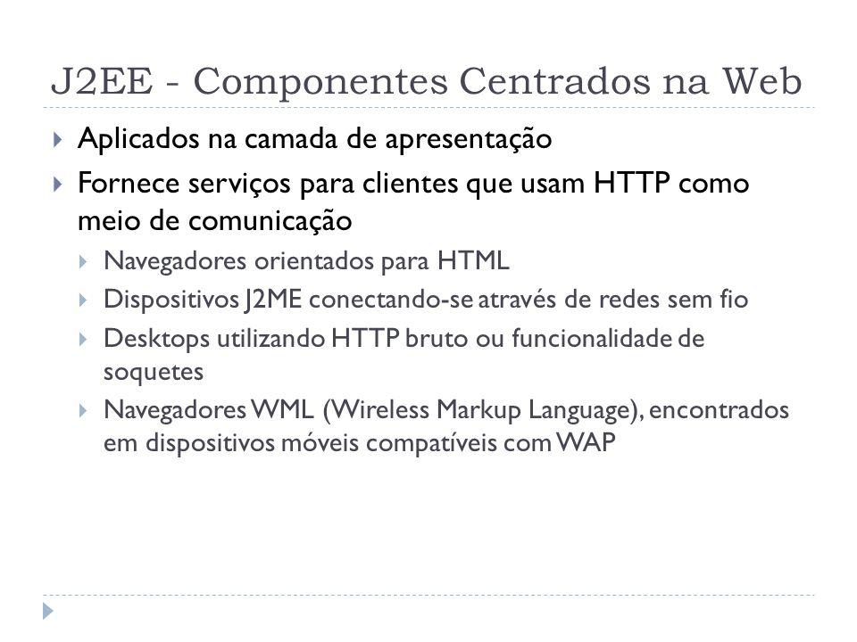 J2EE - Componentes Centrados na Web