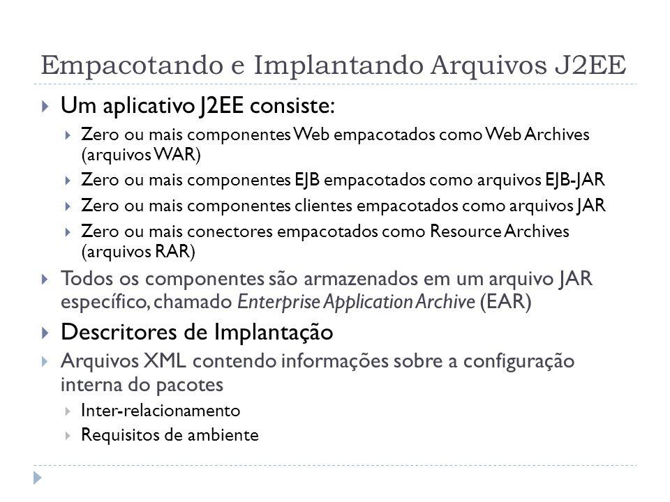 Empacotando e Implantando Arquivos J2EE